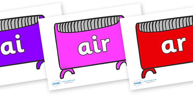 Phase 3 Phonemes on Heaters - Phonemes, phoneme, Phase 3, Phase three, Foundation, Literacy, Letters and Sounds, DfES, display