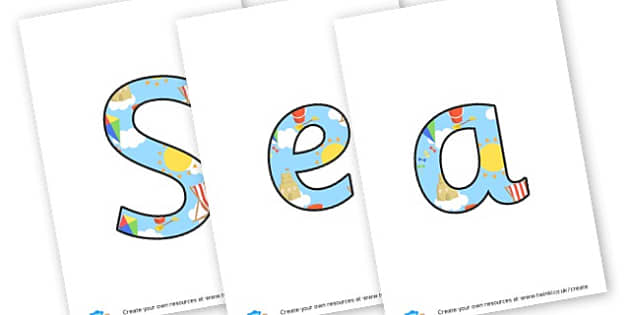 Seashore Cafe - display lettering - The Seaside Display Primary Resources, beach, sun, sand