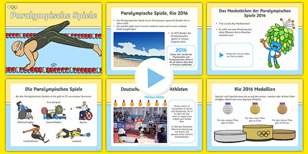 Paralympics Information PowerPoint-German