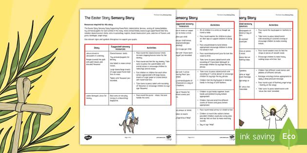 The Easter Story A Sensory Story - easter, SEN, sensory, PMLD, P Scales