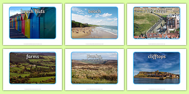 Whitby Landscape Display Pack - north york moors, yorkshire, geography, location seaside, fishing, display, comparison, nature,