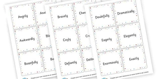 Adverbs Word List - KS2 Verbs and Adverbs Primary Resources, Verbs, Adverbs, KS2 Words