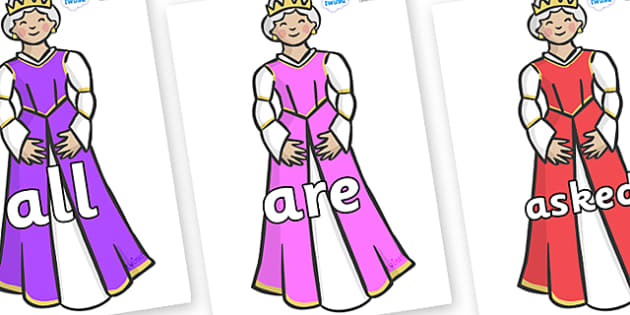 Tricky Words on Queens - Tricky words, DfES Letters and Sounds, Letters and sounds, display, words