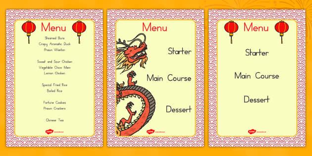 Chinese Restaurant Menus - australia, chinese, restaurant, menus