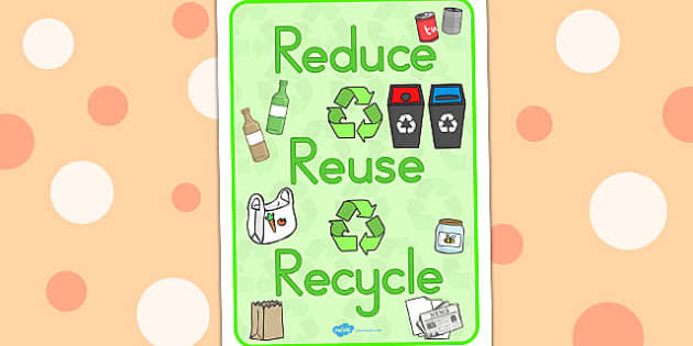 Eco And Recycling Reduce Reuse Recyle Display Poster - posters