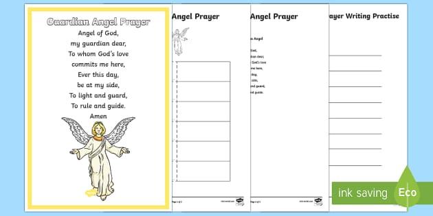 Guardian Angel Prayer Resource Pack - CfE Catholic Christianity, prayers, mass responses, Guardian Angel ,Australia