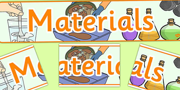Materials Display Banner CfE - display, banner, cfe, materials