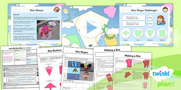 PlanIt - DT LKS2 - Let's Go Fly a Kite Lesson 3: Kite Shapes Lesson Pack