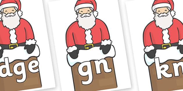 Silent Letters on Santa (Chimney) - Silent Letters, silent letter, letter blend, consonant, consonants, digraph, trigraph, A-Z letters, literacy, alphabet, letters, alternative sounds