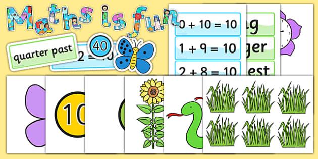 Ready Made Maths is Fun Display Pack - ready made, maths, display