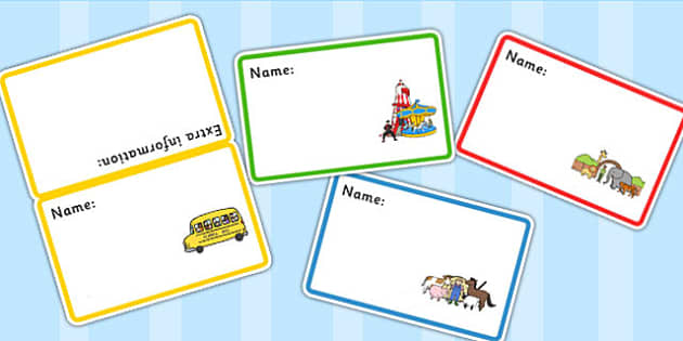 School Trip Badges Editable - days out, trips, name badges, badge