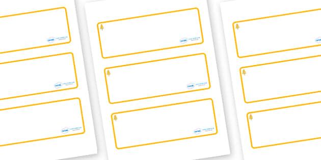 Aspen Themed Editable Drawer-Peg-Name Labels (Blank) - Themed Classroom Label Templates, Resource Labels, Name Labels, Editable Labels, Drawer Labels, Coat Peg Labels, Peg Label, KS1 Labels, Foundation Labels, Foundation Stage Labels, Teaching Labels