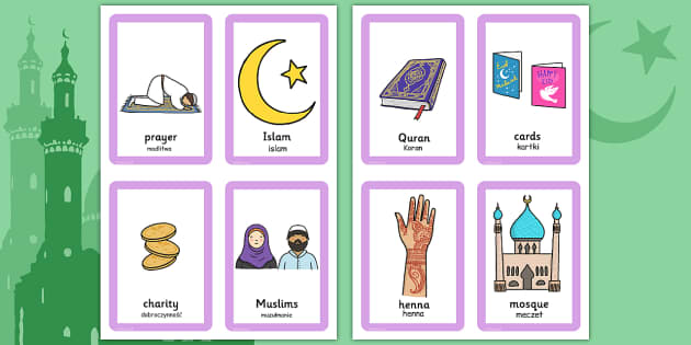 Eid Pairs Matching Game Polish Translation - polish, eid, pairs, matching game