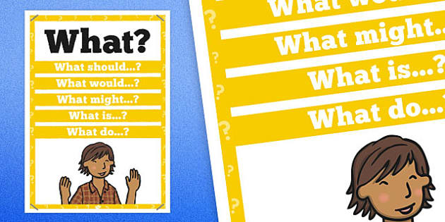 What? Question Poster - posters, displays, display, questions