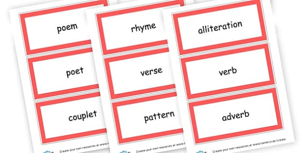 poetry vocabulary - Poetry Primary Resources, poetry, poems, rhyme, creative, rhymes