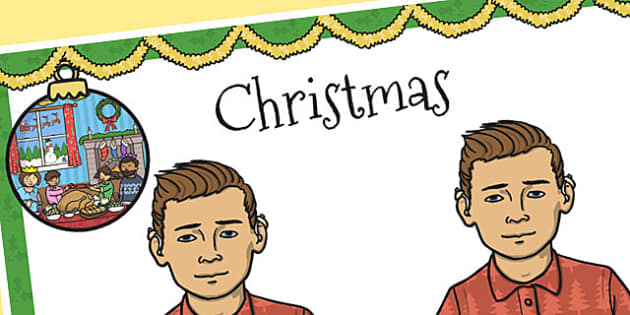 A4 British Sign Language Sign for Christmas Left Handed - sign