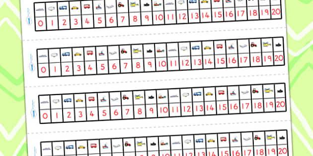 Transport Number Track 0-20 - transport, number track, number
