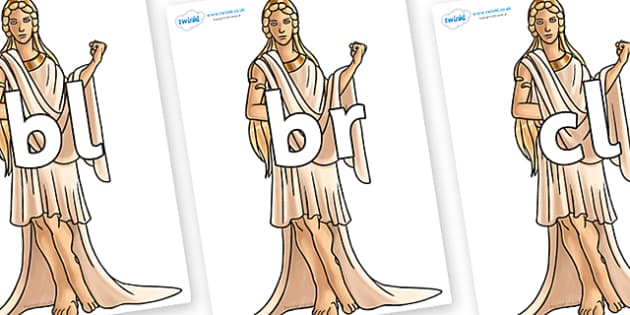 Initial Letter Blends on Hera - Initial Letters, initial letter, letter blend, letter blends, consonant, consonants, digraph, trigraph, literacy, alphabet, letters, foundation stage literacy