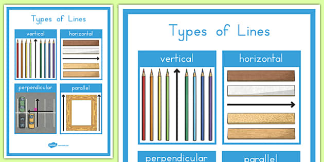 Types of Lines A4 Display Poster