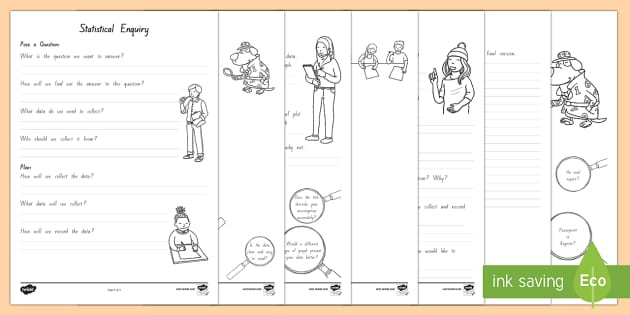 Statistical Enquiry Planning Activity Sheet - NZ Statistics (Back to School), investigtion, new zealand data, data handling