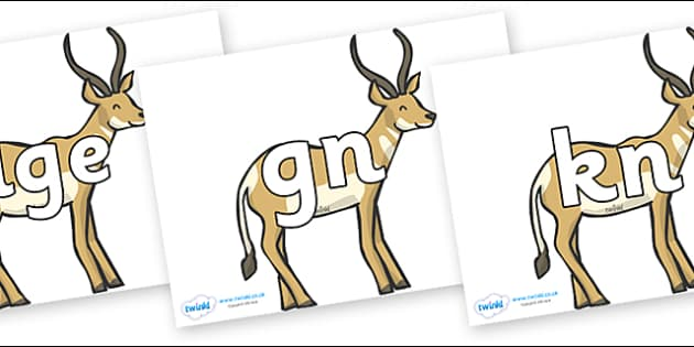 Silent Letters on Antelope - Silent Letters, silent letter, letter blend, consonant, consonants, digraph, trigraph, A-Z letters, literacy, alphabet, letters, alternative sounds