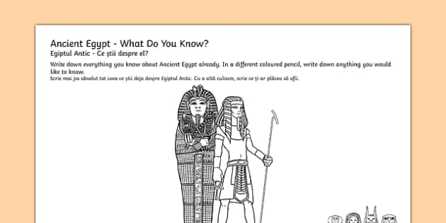 Ancient Egypt Mind Map Activity Sheets Romanian Translation - egypt, mind map, worksheet, egipt, thought shower, eygpt, egyot