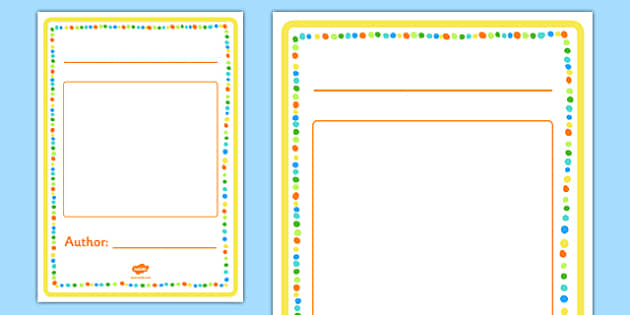 Generic Story Front Cover Activity - generic story, front cover, activity, creative writing