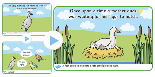 The Ugly Duckling Story PowerPoint Romanian Translation - romania