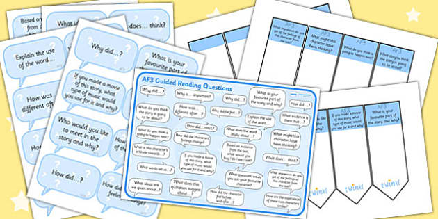 AF3 Guided Reading Resource Pack - AF3, guided reading, reading