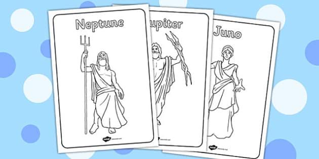Roman Gods Colouring Pages - roman gods, colouring, pages, colour