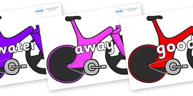 Next 200 Common Words on Bikes - Next 200 Common Words on  - DfES Letters and Sounds, Letters and Sounds, Letters and sounds words, Common words, 200 common words