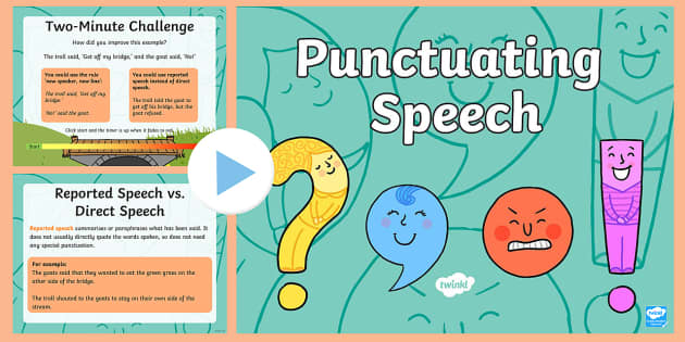 Punctuating Speech PowerPoint - punctuating, speech, powerpoint