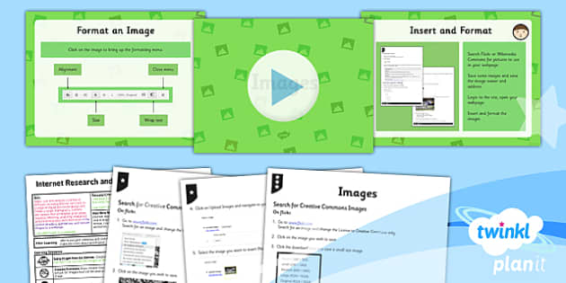 PlanIt - Computing Year 5 - Internet Research and Webpage Design Lesson 4: Images Lesson Pack - planit, computing