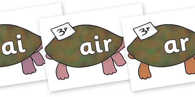 Phase 3 Phonemes on Turtle to Support Teaching on The Great Pet Sale - Phonemes, phoneme, Phase 3, Phase three, Foundation, Literacy, Letters and Sounds, DfES, display