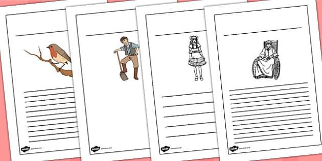The Secret Garden Writing Frames - writing frames, write, secret