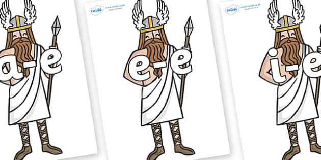 Modifying E Letters on Viking Gods - Modifying E, letters, modify, Phase 5, Phase five, alternative spellings for phonemes, DfES letters and Sounds
