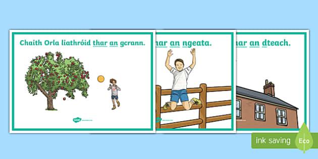 Gramadach na Gaeilge, Thar An Display Posters