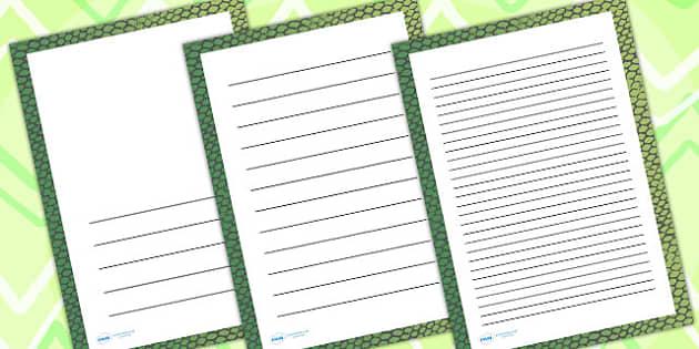 Snake Skin Page Borders - writing templates, writing frames