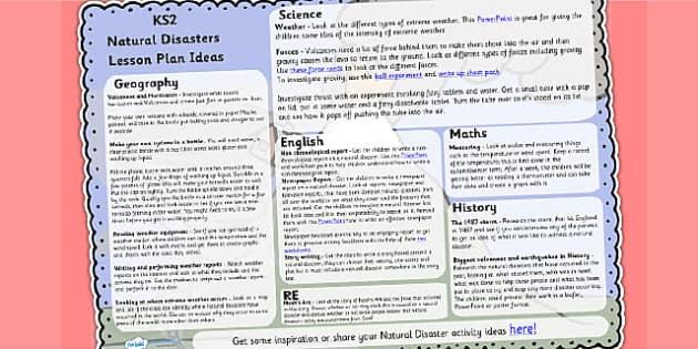 Natural Disasters Lesson Plan Ideas KS2 - natural disasters