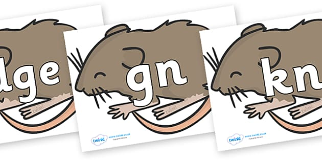 Silent Letters on Mice - Silent Letters, silent letter, letter blend, consonant, consonants, digraph, trigraph, A-Z letters, literacy, alphabet, letters, alternative sounds