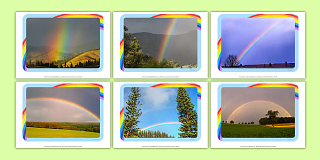 Rainbows Photo Pack - EYFS, Early Years, weather, Spring, seasons, rain, sun, colours