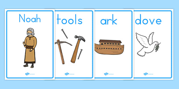 Noah's Ark Display Posters - usa, america, Noah's Ark, display, poster, sign, noah, tools, ark, animals, rain, rainbow, flood, dove, land
