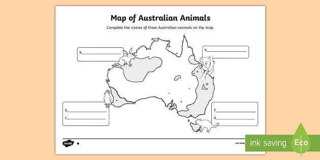 Endangered Australian Animals mapping Activity Sheet - Australian Animals, reptiles, cloze passages, activity sheets, word search, research, fast finisher,