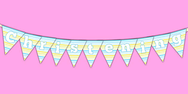 Christening Bunting - christening, new parents, bunting, display bunting