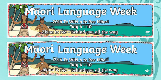 Maori Language Week Display Banner