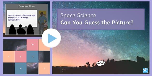Space Quiz PowerPoint - PowerPoint Quiz, Space, Galaxy, Satellite, Solar System