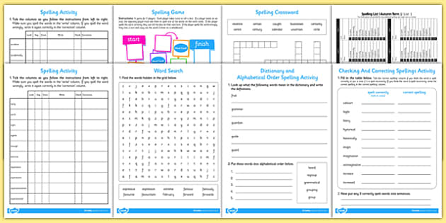 Year 3 Autumn Term Spelling Lists and Resources Pack - spelling