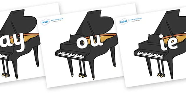 Phase 5 Phonemes on Baby Grand Pianos - Phonemes, phoneme, Phase 5, Phase five, Foundation, Literacy, Letters and Sounds, DfES, display
