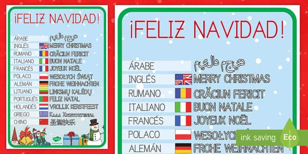 Felicitaciones navideñas por el mundo - lenguas, idiomas, otras culturas, salutaciones, saludos, christmas, navidad, navideño,Spanish - lenguas, idiomas, otras culturas, salutaciones, saludos, christmas, navidad, navideño, Spanish