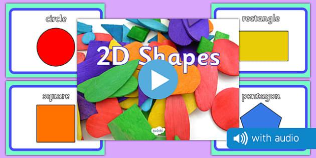 2D Shape Audio Flashcards - 2d shapes, audio, sound, flash cards